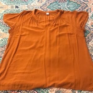 Burnt Yellow Top from Old Navy